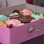 Caja de cartn decorativa para cupcakes