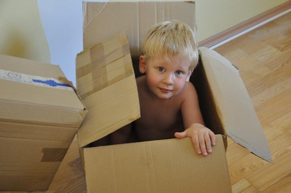 Caja bonita para niño
