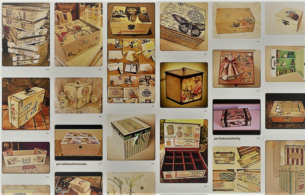 caja decorada vintage bonita